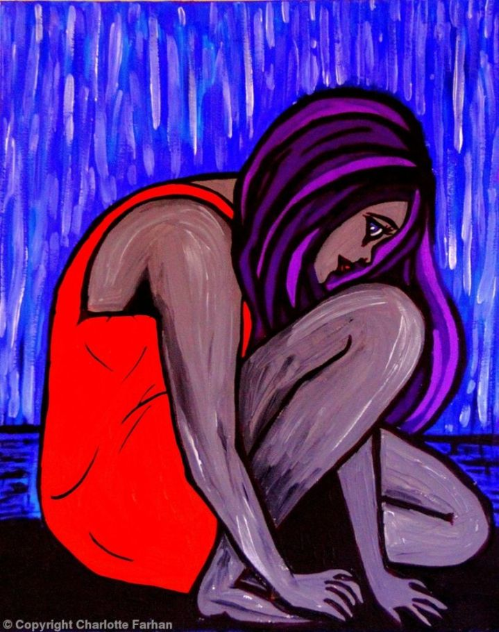 "That Day – By Charlotte Farhan This is an expressionist piece reflecting the sadness and isolation experienced after a devastating trauma and how ""that day"" is frozen in time forever."