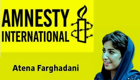 28-year-old Atena Farghadani is an artist. She is also a prisoner – detained in Tehran's Evin Prison for producing art work critical of the government.