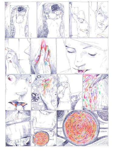 A faded poster of Klimt's, The Kiss, hangs on the kitchen wall – an idealised symbol of desire and intimacy, bought and displayed in ones youth. Klimt Soup challenges Klimt's representation of womanhood, reclaiming her and his depiction of the older woman. By ZARA SLATTERY