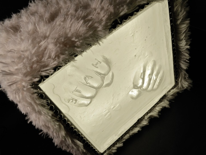 NO HARD FEELINGS! 2012 Size: W.17 x H.17 x D.14cm Medium: Box-cast clear glass, metal, wood, faux-fur & LED lights