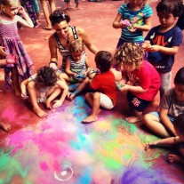 Ruby Al-Faqir, India DIWALI FROM US TO THE WORLD - Creating colored sand Mandalas.. expanding our Consciousness.. connecting to the universe