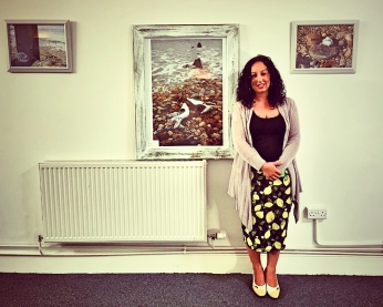 Artist Louise Tomkinson at the ASLI Pop-Up Exhibition