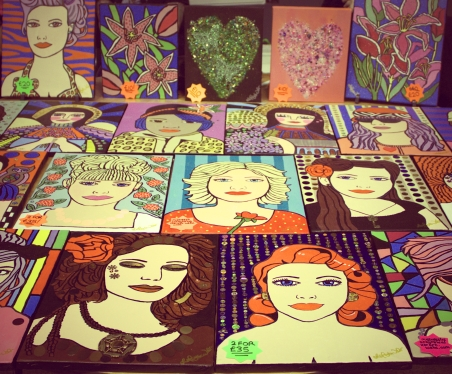 Misstresslisa's Artworks at ASLI'S event and pop up exhibition to raise awareness about mental illness in Portsmouth, UK