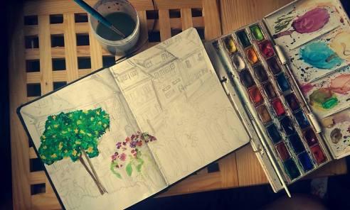 Artist Jade Bryant - works in progress