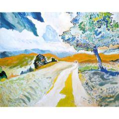 'Selfportrait As A Landscape' Mirapuri, 2013, Acryl on canvas, 100x80cm